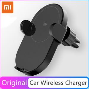 Image 1 - Xiaomi Mi 20W/10w Max Qi bezprzewodowa ładowarka samochodowa inteligentny czujnik podczerwieni szybkie ładowanie podwójne chłodzenie uchwyt samochodowy telefon dla Mi 9