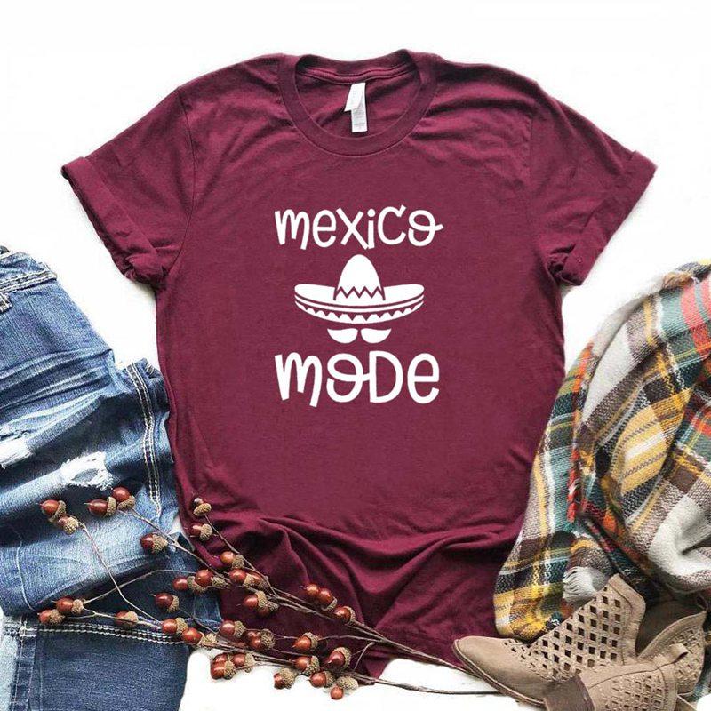 Mexico Mode Latina Print Women Tshirt Cotton Casual Funny T Shirt Gift For Lady Yong Girl Top Tee 6 Color Drop Ship S-956