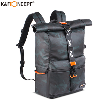 K&F Concept Camera Backpack Waterproof Photography Bag for DSLR Camera Lens 15.6 Laptop bag with Rain Cover tripod hold big capacity photography camera waterproof shoulders backpack video tripod dslr bag w rain cover for canon nikon sony pentax
