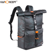 K&F Concept Camera Backpack Waterproof Photography Bag for DSLR Camera Lens 15.6 Laptop bag with Rain Cover tripod hold