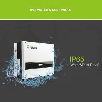 Growatt Inverter 3000w 3kw 4000w 4kw 5000w 5kw 6000w 6kw 380v 3 Phrase Pure Sine Wave Inverter Dual MPPT Grid Tie On Grid System grid tie inverter 2000 watt home wind inverter dc 48v to ac 240v inverter on grid