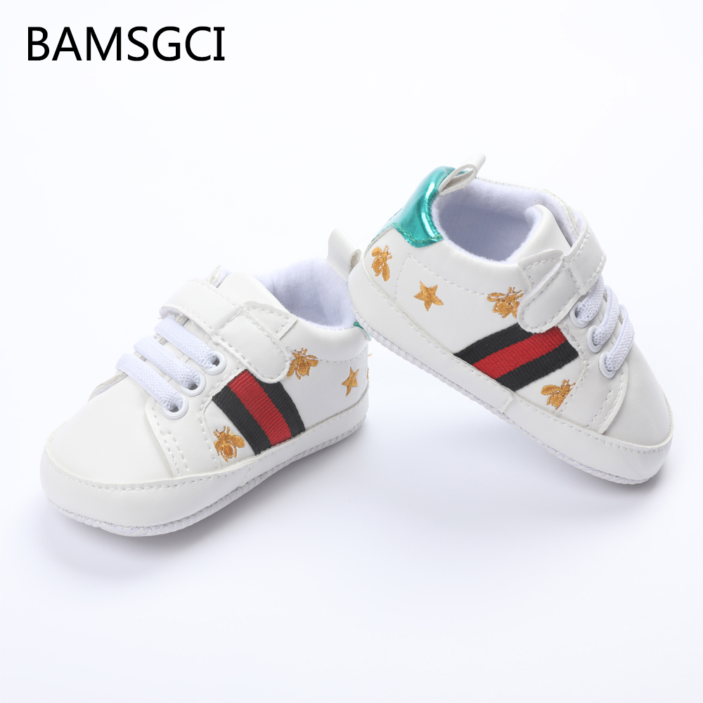 BAMSGCI Fashion Kids Baby Shoes Newborn Baby Boys Girls Toddlers Shoes Sports Sneakers Non-Slip Breathable Soft Sole 0-18 Months