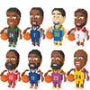 Fun cartoon basketball star figure nanobricks Leonard kobe james Harden Antetokounmpo Durant Curry micro diamond block brick toy