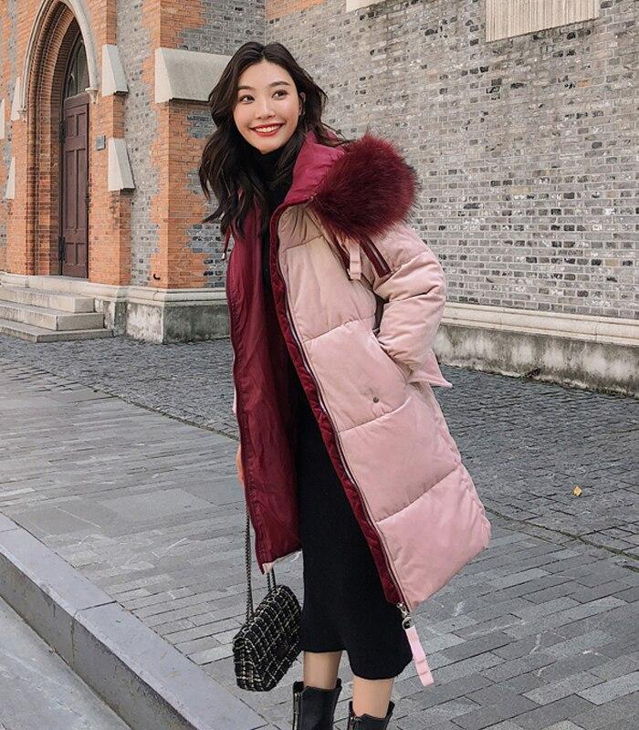2019 High Quality Winter Jacket Women Velvet Fabric Hooded Thicken Fur_B5_16
