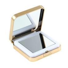 1x: 10x1 Pcs Women Led Foldable Make Mirrors Lady Cosmetic Hand Fold Portable Compact Pocket Mirror 1 /10x Enlargement Glass Hd