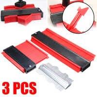 3Pcs 120mm 250mm 125mm Contour Gauge Set Wood Marking Tool Tiling Laminate Shape Profile Metal Tiles Carpet Tools General Use