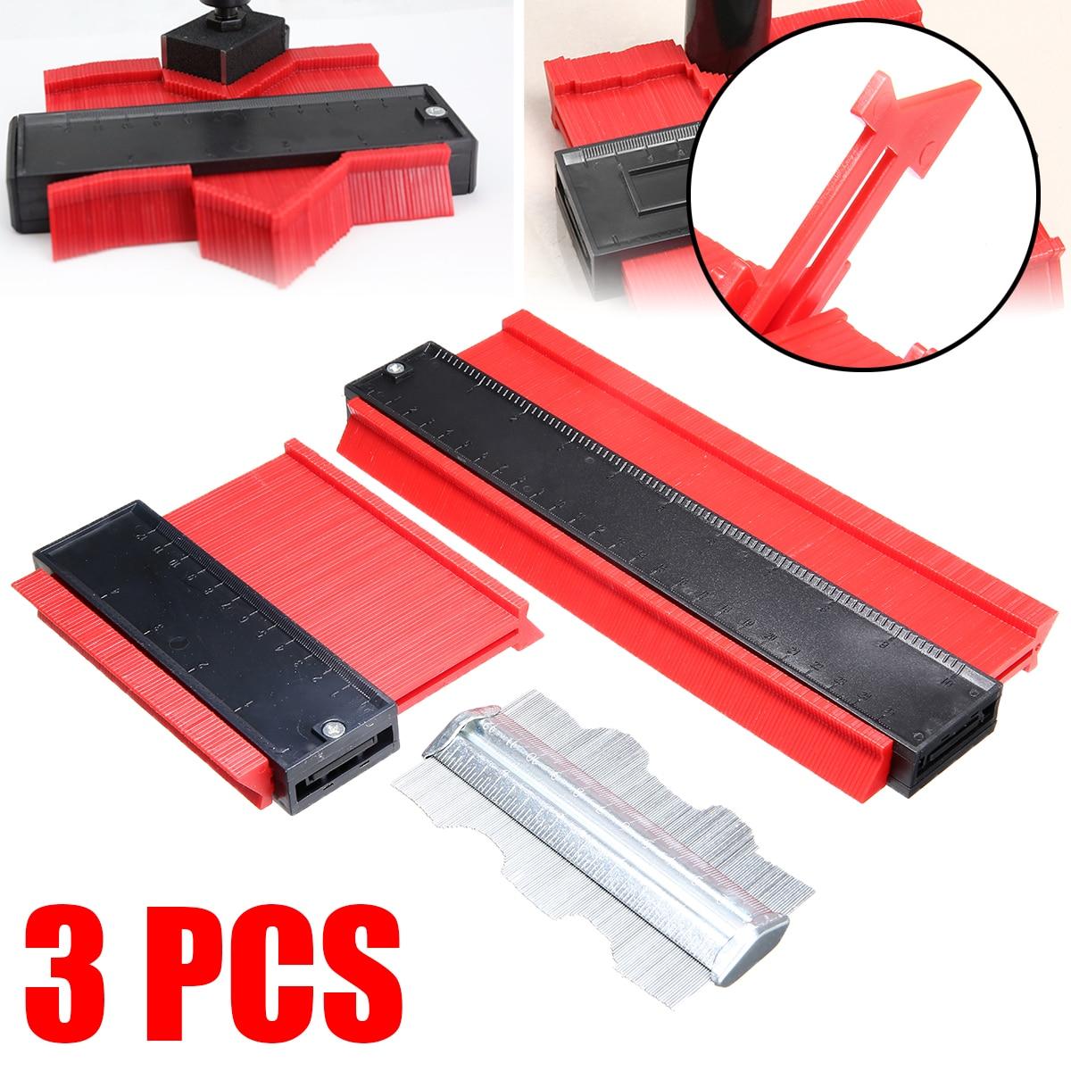 3Pcs 120mm 250mm 125mm Kontur Gauge Set Holz Kennzeichnung Werkzeug Fliesen Laminat Form Profil Metall Fliesen teppich Werkzeuge Allgemeine Verwendung