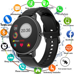 Image 1 - 2020 pleine touche montre intelligente hommes pression artérielle Smartwatch femmes étanche fréquence cardiaque Tracker Sport horloge montre pour Android IOS