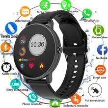 2020 tam dokunmatik akıllı saat erkekler kan basıncı Smartwatch kadınlar su geçirmez nabız Tracker spor saati Android IOS için izle