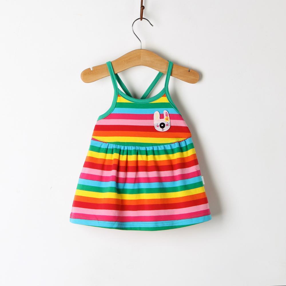 H353d57a05e9d49d4a47be8253c6d3d05y Girls Dress 2018 Summer Explosion Solid Color Denim Dress Cartoon Polka Dot Bow Cartoon Bunny Satchel Korean Baby Cute Dress