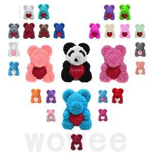 Image 1 - 40 Cm Lễ Tình Nhân Hoa Hồng Gấu Nhân Tạo Hoa Hoa Hồng Teddi Gấu Nữ Tặng Bạn Gái Đồ Trang Trí Gấu Bông Hoa Hồng đồ Trang Trí