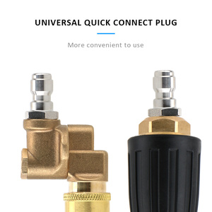 Image 2 - Rotary Pivoting Coupler Jet Sprayer Turbo Nozzles Sprayer Car Cleaning For Quick Connector Car Pressure Washer Accessory