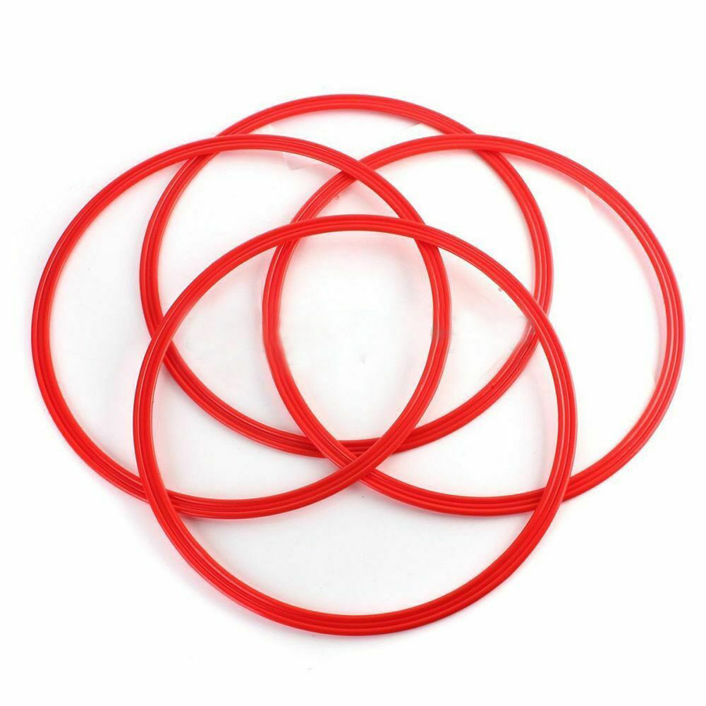 12pcs Practical For Tennis Aid Durable Fitness Soccer Practice Sport Training Ring Footwork Speed Football Agility Basketball