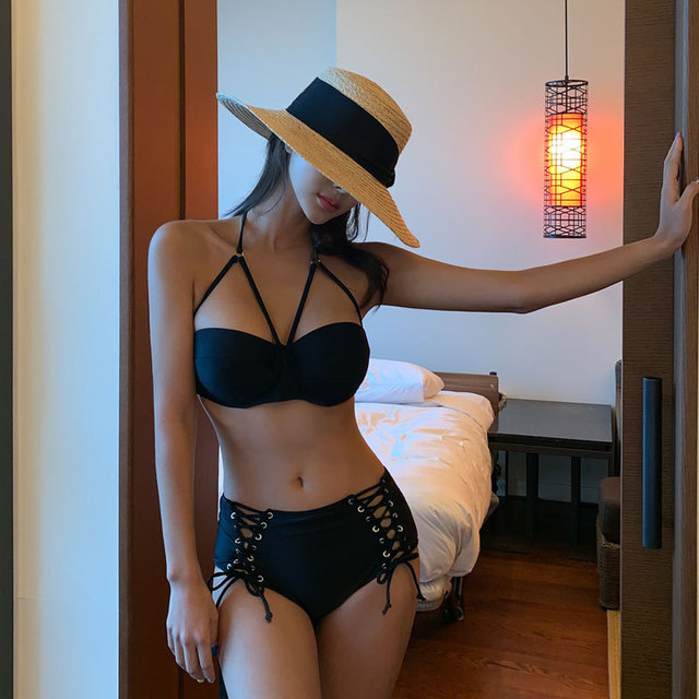 Swimsuit Woman Bikini Girls New Tankini Women 2020 Deuce Two Piece Split Underwire Bracket Push Up High Waist Covering Strap