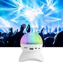 LED Light Bluetoot Speaker Wireless Crystal Ball Disco Subwoofer Loudspeaker Support Dance Party Sound Box For Phones