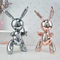 Work Rabbit Resin Statue Nordic Style Art Sculpture Home Decoration Balloon Dog