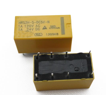 цена на 5 pcs DTDP Relay 5 Volt Coil PCB HRS Relay HRS2H-S-DC5V 8 PIN New