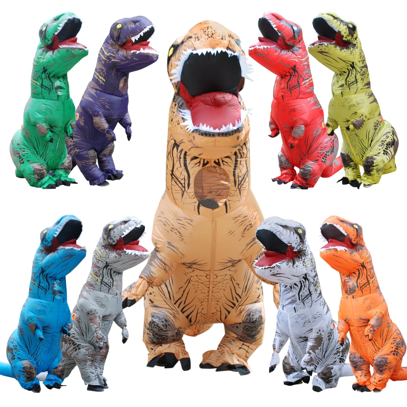 Inflatable Dinosaur Costume Halloween Cosplay Dinosaur Costumes For Adult Disfraces Adultos T REX Fan Operated