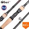 Obei HURRICANE 1.8/2.1/2.4/2.7/3.0m Casting Spinning Fishing Rod Fuji Or TS Guide Baitcasting Travel pesca M/ML/MH/H Lure Rod