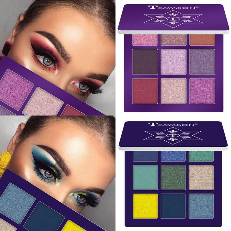 9 Colors Glitter Diamond Eye Shadow Palette Shimmer Pigment Highlighter Eyeshadow Matte Eyes Makeup