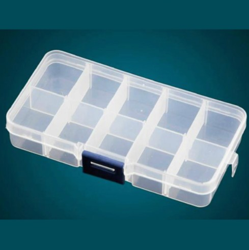12 Compartment Empty Plastic Storage Case Stones Earring Jewelry Container Organizer Box Dired Flower Nail Art Products