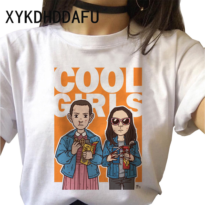 H353e139044cf488d8af4eb817f09ce2fa - Stranger Things T Shirt Women Harajuku Eleven Aesthetic Streetwear Clothes Vintage Tshirt Female New Summer T-shirt Top Tee