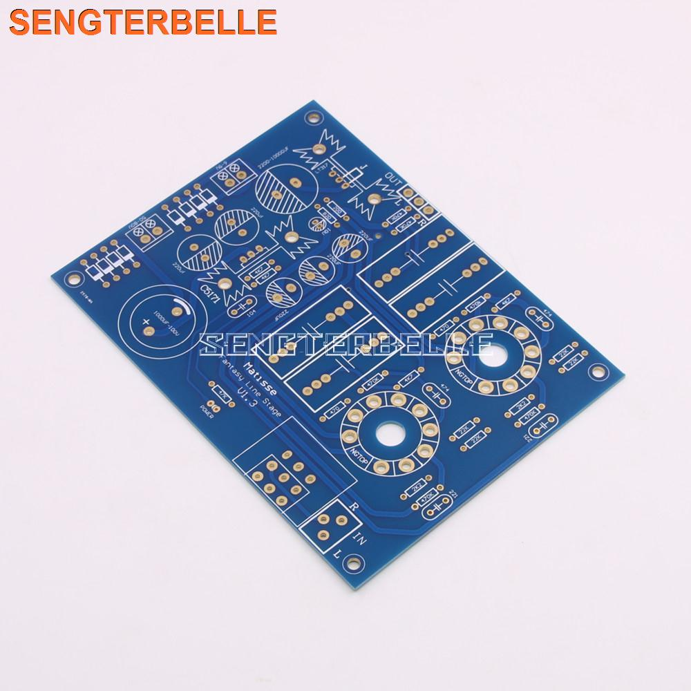 New Matisse Tube Preamplifier PCB 6H3n-E & 6N3 Vacuum Tube Preamp Bare Board PCB For Audiophile DIY