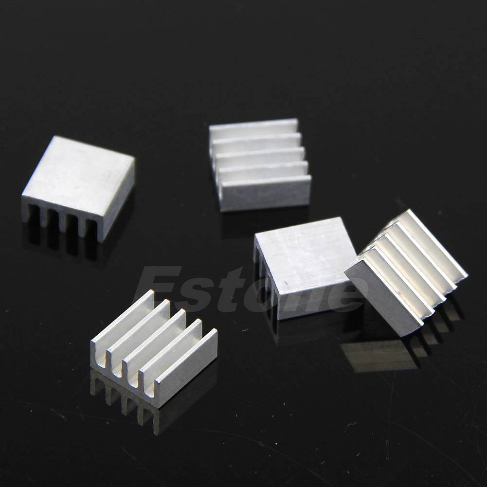 5pcs Aluminum Cooling Fin Heat Sink For PCB Memory Chip IC 8.8mm*8.8mm*5mm