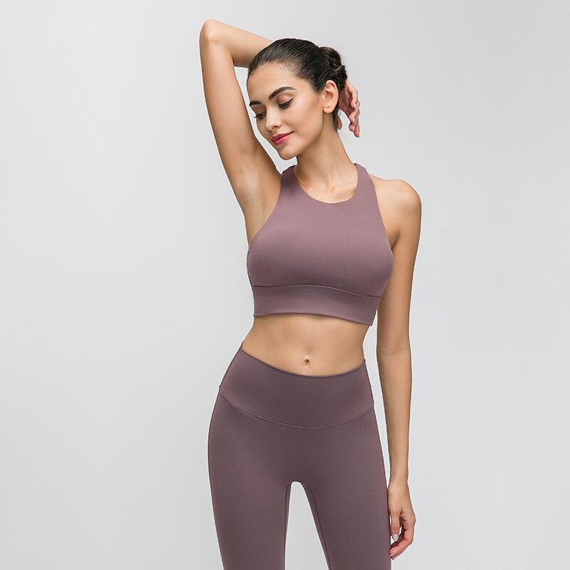 JAP Seamless Sports Bra Women Yoga Bra Top Fitness Mid Support Running Crop Tops