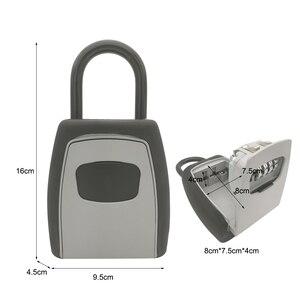 Image 2 - 키 스토리지 벽 마운트 알루미늄 합금 키 안전 상자 비바람에 견디는 잠금 야외 키 안전 상자 보안 주최자 상자