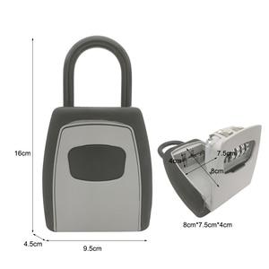 Image 2 - Keys Storage Wall Mounted Aluminum alloy Keys Safe Box  Weatherproof  Lock Outdoor Keys Safe Box Security Organizer Boxes