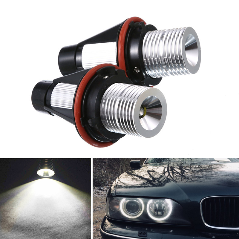 2pcs 10W LED Car Marker Angel Eye Lights Bulb For <font><b>BMW</b></font> 7 Series E65 E66 <font><b>745i</b></font> 745Li 750i 750Li 760i 760Li B7 ALPINA Fog Light image