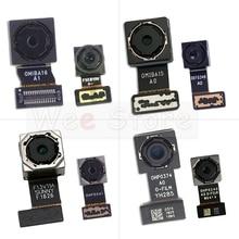 Küçük ön ve ana büyük arka arka kamera Flex kablo Xiaomi Redmi için not 4 4A 4X Pro küresel kamera flex