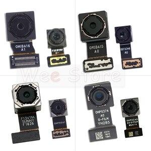 Image 1 - Küçük ön ve ana büyük arka arka kamera Flex kablo Xiaomi Redmi için not 4 4A 4X Pro küresel kamera flex