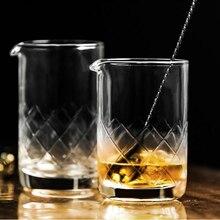 Японский Хрустальный бармен смешанный стакан для смешивания вина, чашка для перемешивания кухни, аксессуары для обеденных баров, Коктейльные виски, шейкеры, барная посуда