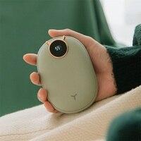 Power Bank 10000mAh USB ricaricabile portatile carica scaldamani riscaldamento invernale 5V 2 in 1 Mini tasca Powerbank per iPhone Mi