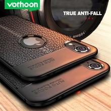 Vothoon PU Leather Silicon Case For iphone 12 Pro Max 12 Mini 11 Pro Xr Xs Max 6s 7 8 Plus 5se Soft Silicon Back Cover Case