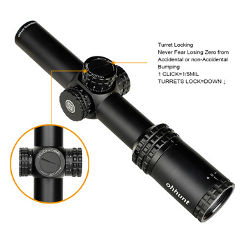 ohhunt Guardian 1-6X24 IR Hunting Riflescopes Compact Glass Etched Reticle llluminate Turrets Lock Reset Tactical Optical Sight 4