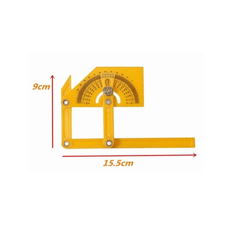 Angle Finder Protractor Goniometer Miter Gauge Arm Measuring Ruler Tool Plastic