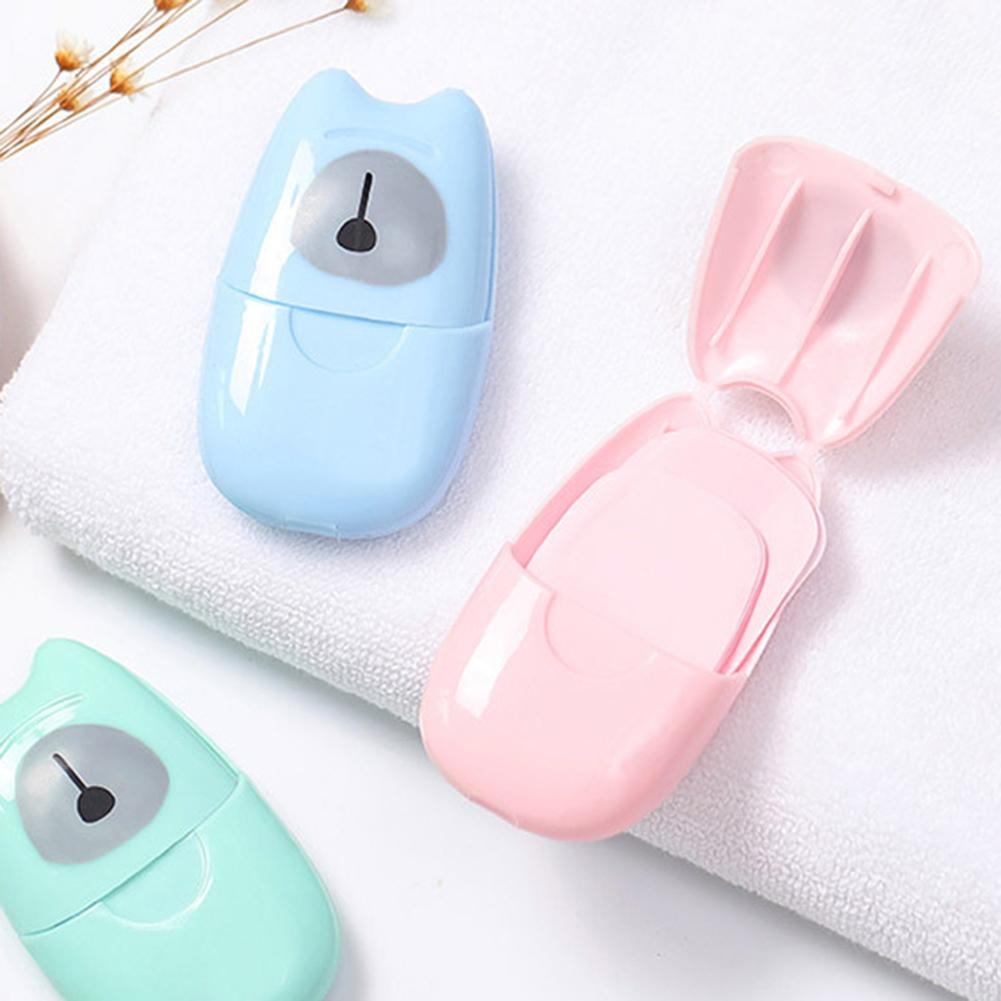 50Pcs Disposable Boxed Soap Paper Portable Travel Hand Washing Scented Sheets Good For Travel, Camping, Hiking, BBQ Or Other