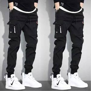 5XL Men Vintage Cargo Pants 2019 Male Hip hop Khaki Black Pockets Joggers Pants Man Korean Fashion Sweatpants Autumn Overalls(China)