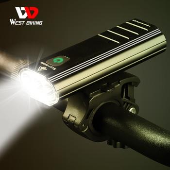 West Biking Ipx6 Waterproof Bicycle Light Usb Rechargeable 1500 Lumen 3 Pcs T6 LED Bike Front Flashlight For Lamp