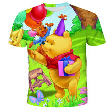2021 Summer Cartoon Bear 3D Printing Clothes, Round Neck Quick-Drying Short-Sleeved T-Shirt That Boys And Girls Love