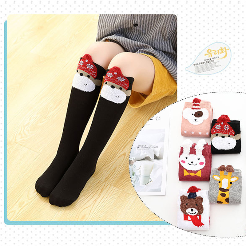 Girls Socks Cotton Knee High Socks Animals Cartoon Design Princess Socks Kids Dancing Socks 2-12Y Children Sock Girl's Clothing