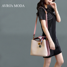 AVRO's MODA Brand PU leather shoulder bucket bags for women 2019 luxury handbags women crossbody bag designer messenger tote bag 2017 women s handbags fashion wild tassel bucket bag tote leather women messenger bags girls for shoulder bag brands designer
