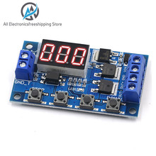 DC 12V 24V Dual MOS LED Digital Time Delay Relay Trigger Cycle Timer Delay Switch Circuit Board Timing Control Module DIY dc 12v multifunction self lock relay plc cycle timer module delay time switch board
