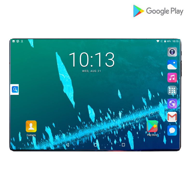 2020 Hot 10 Inch 4G LTE Tablets PC Octa Core 6GB RAM 128GB ROM IPS 2.5D Tempered Glass 6000mAh 10.1 Tablets Android 9.0