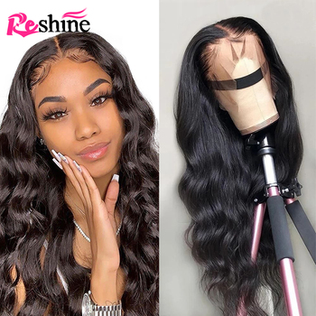 Body Wave 360 Lace Frontal Wig Pre Plucked With Baby Hair Reshine 150 Density Lace Front Human Hair Wigs For Women Body Wave Wig