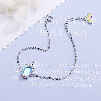 CHENGXUN Cute Unicorn Bracelet for Girls Women Animal Bracelets Romantic Fashion Jewelry Christmas Present for Children Daughter 4