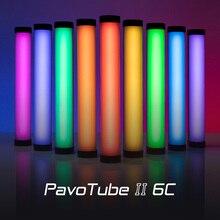 Nanguang Nanlite PavoTube השני 6C LED RGB אור צינור נייד כף יד צילום תאורה מקל CCT מצב תמונות וידאו רך אור